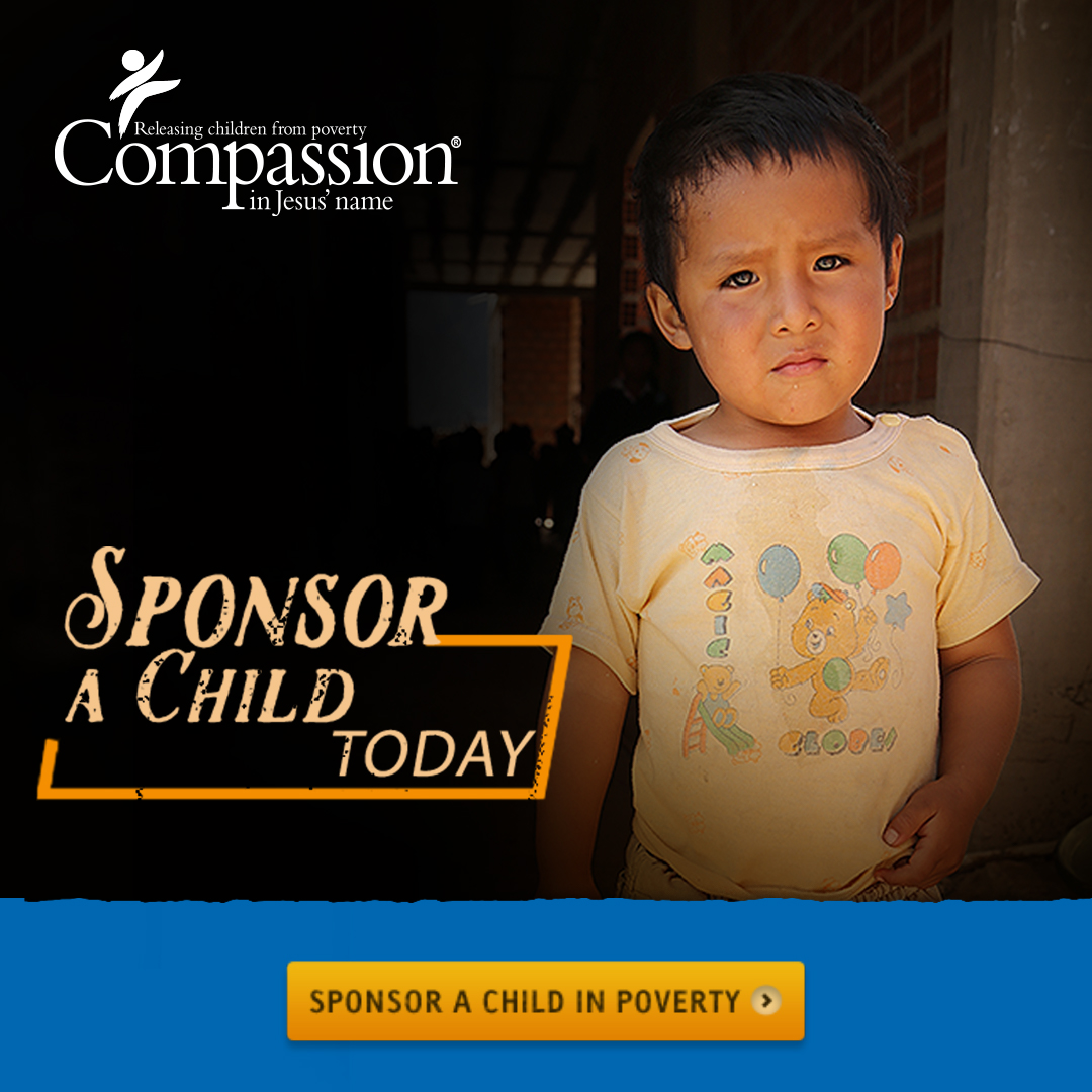 Click to sponsor a child through Compassion International